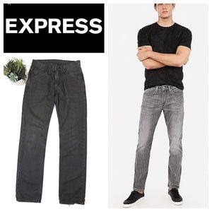 Express ZACH Gray Rinse Slim Straight Jeans 30x32